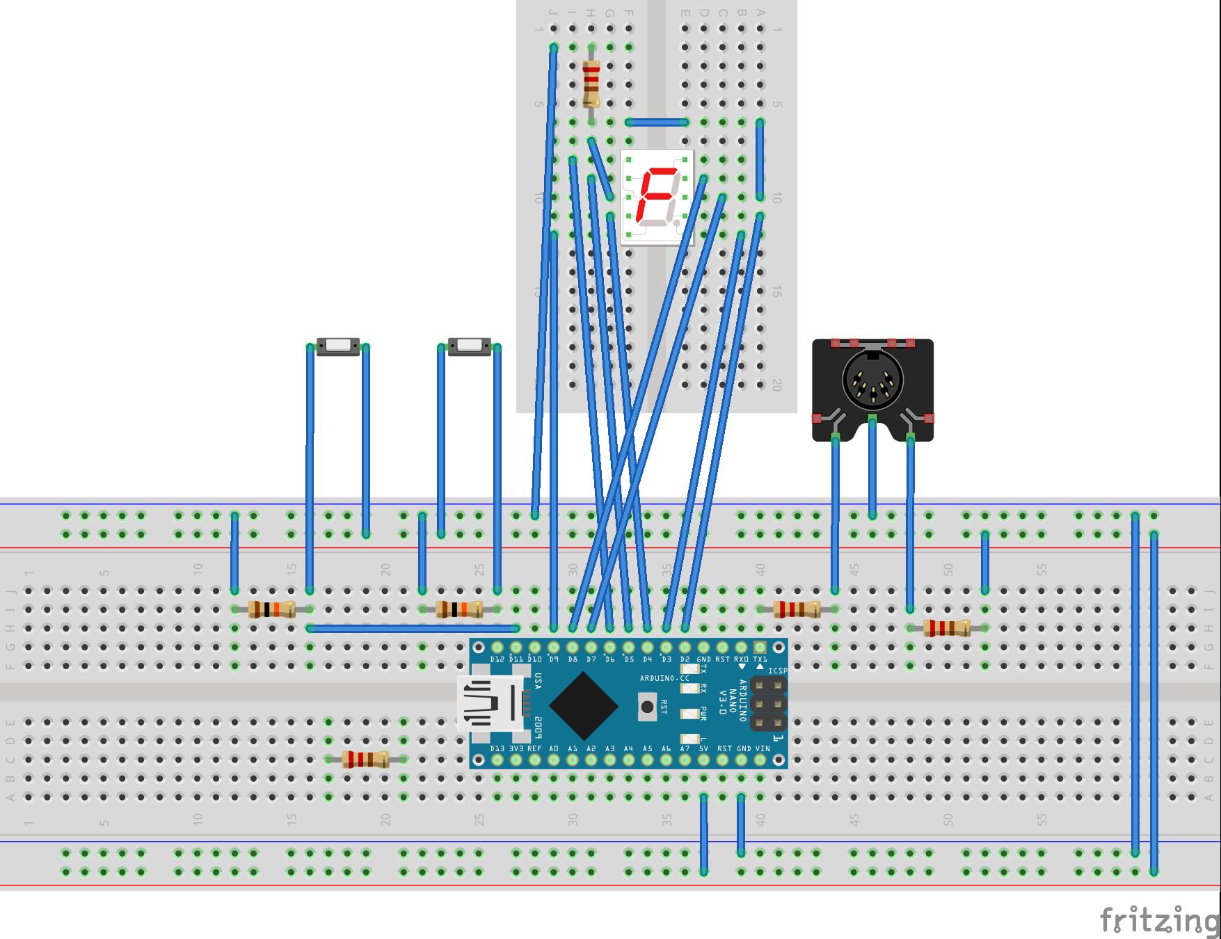 Midi patch changer schematic